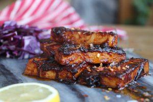 Veganska revbensspjäll på tofu - jävligt gott