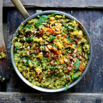 Nillas kitchen - grön biryani med linser och nötter