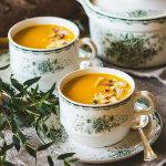blomster och bakverk - morotssoppa med apelsin och ingefära