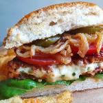 10 veckor vegan - Jalapeño popper burgare
