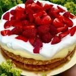 Lyckas med bakning - Mazarintårta med jordgubbar