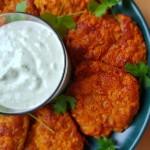 Nadjas kitchen - Morots- och halloumibiffar