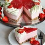 Toves patisserie - Jordgubbscheesecake med jordgubbsgelé