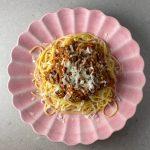 Spagetti och köttfärssås fast vegetarisk