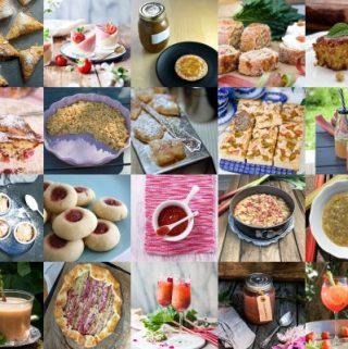 Collage - Lista bästa rabarber recept
