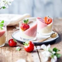 pannacotta med rabarber och vit choklad - Linneas skafferi