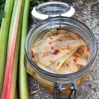 picklad rabarber med äpple och chili - Alla goda ting