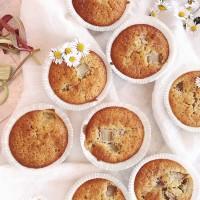 saftiga rabarbermuffins - Fridas bakblogg