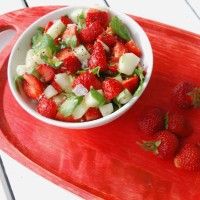Mat såklart - Melon och jordgubbssallad med basilika