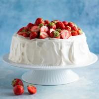 mykitchenstories - gräddtårta med jordgubbar