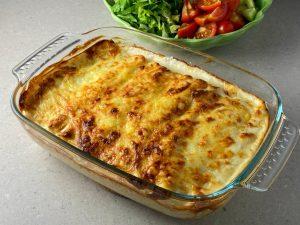 Cannelloni med köttfärssås och bechamelsås