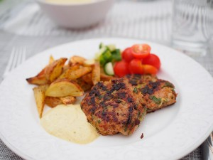 Kycklingbiffar med zucchini - Sandra Callermo