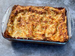 Lasagne med färssås och bechamel