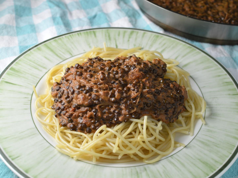 Belugabolognese - vegetarisk bolognese