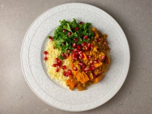 Sötpotatisgryta med couscous