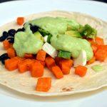 Tacos med sötpotatis och avokado