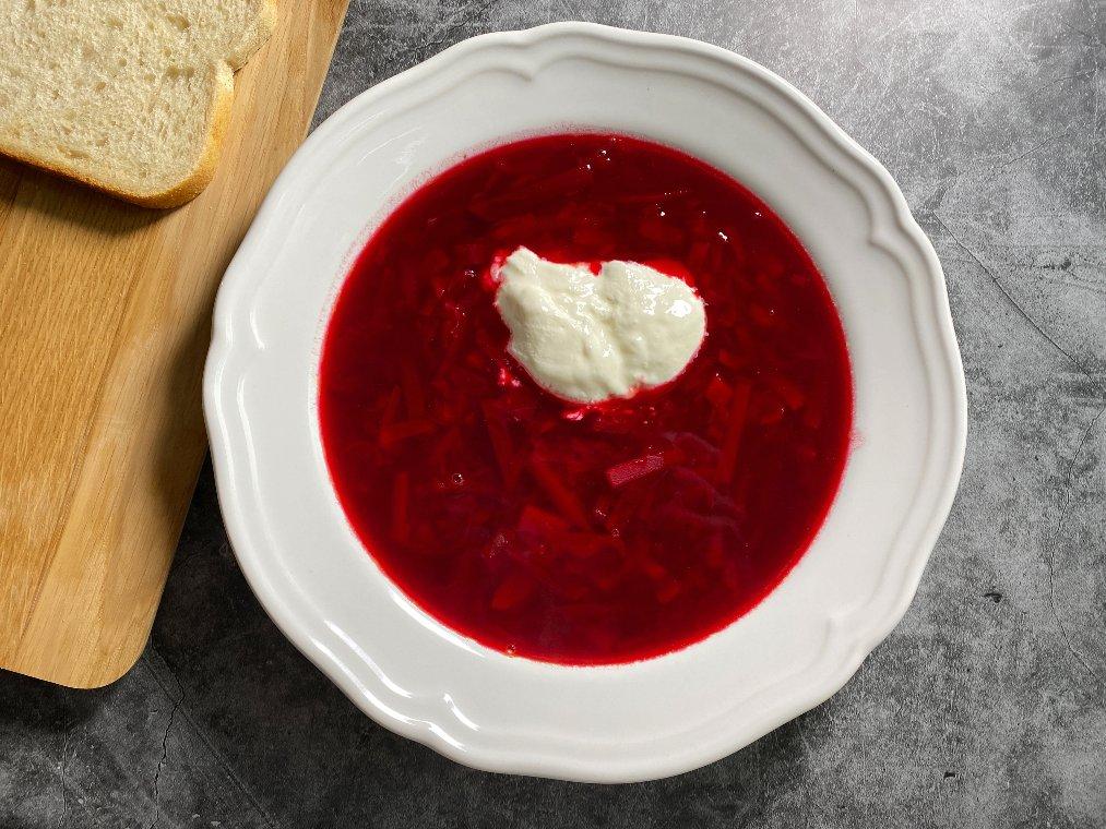 Vegetarisk borscht - rödbetssoppa