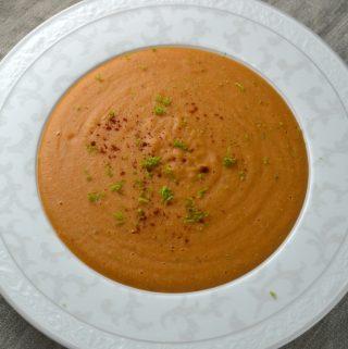 Röd linssoppa med kokosmjölk