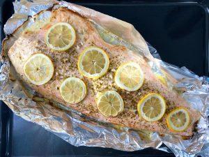 Laxsida i ugn med citron