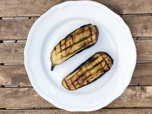 Grillad aubergine med salvia och smör
