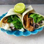Burrito med kokosris och pulled vego